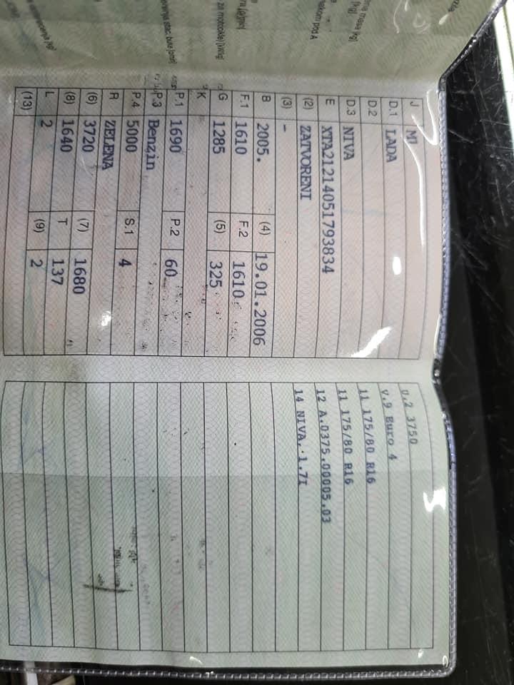 Lada Niva 1.7i | LPG 2005 godina